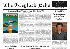 December 23, 2014 Print Edition of the Greylock Echo