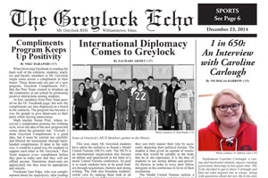 March 12, 2015 Print Edition of the Greylock Echo