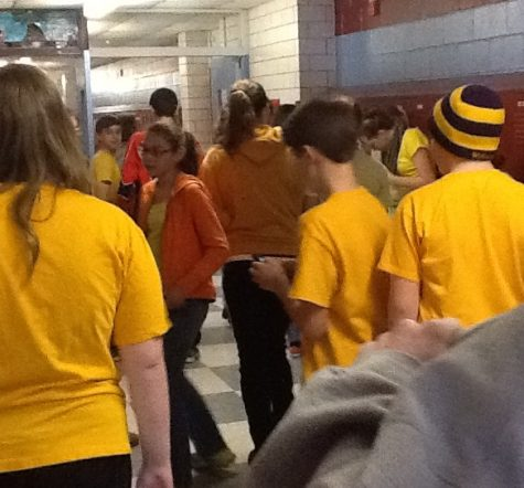 Mounties Wear Yellow for  a Day