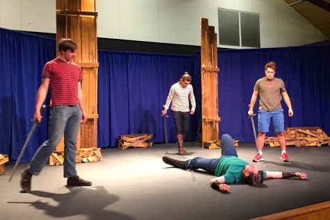 Student-Actors prepare for Shakespeare