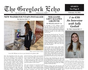 February 10, 2016 Print Edition of the Greylock Echo