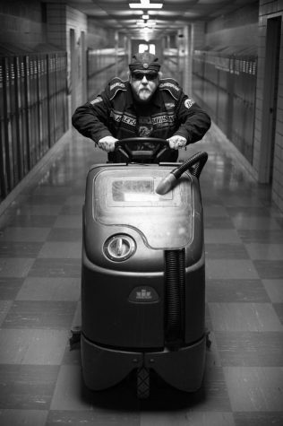 """The Biker"" (Custodian Albert Lamarre)"