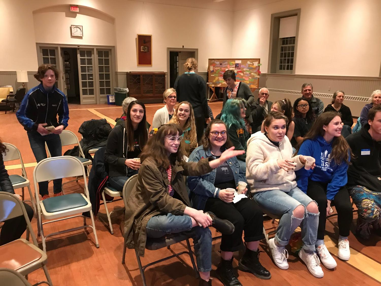 Mt. Greylock students and community members gather at the First Congregational Church.