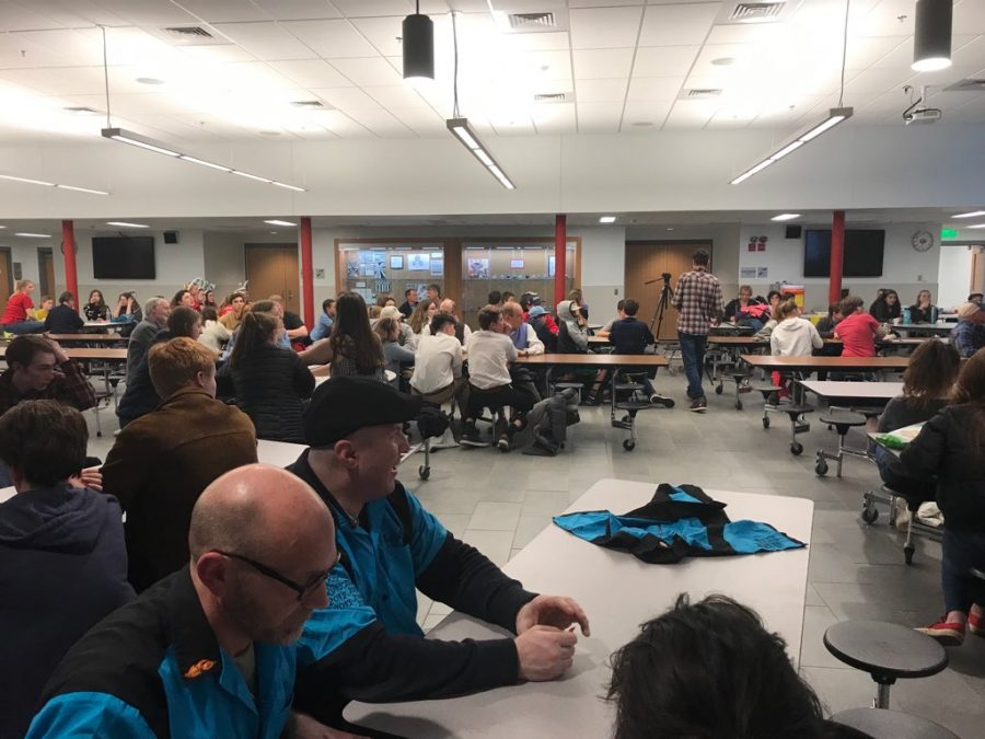 Community members gather at last Thursday's trivia night