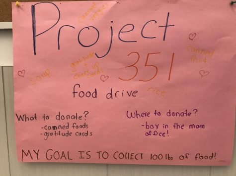 Woodbury, Project 351 Organize Food Drive