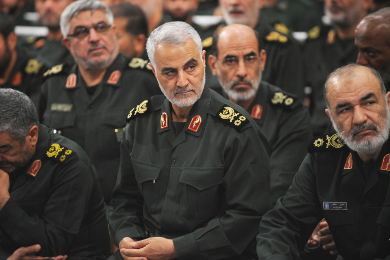 Iranian+Quds+Force+commander+Qassem+Suleimani+meets+with+the+Islamic+Revolution+Guards+Corps+in+Tehran%2C+Iran%2C+on+Sept.+18%2C+2016.+Press+Office+of+Iranian+Supreme+Leader%2FAnadolu+Agency%2FGetty+Images